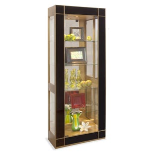 Altair Antique Gold and Black Pier Cabinet