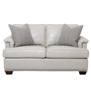 Higgins Top Grain Leather Loveseat