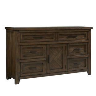 Talley's Crossing 7 Drawer Dresser Rustic Hickory
