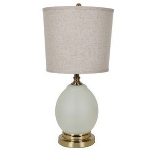Oatmeal Glass Lamp with Night Light