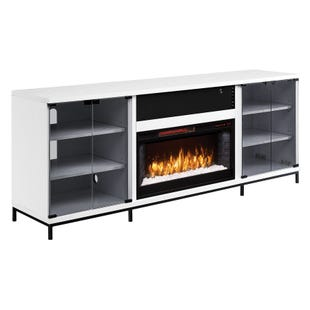 "Fullerton White 70"" Fireplace Console"