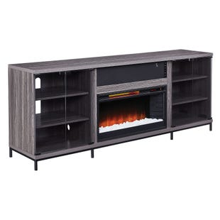 """Fullerton Gray 70"""" Fireplace Console"""