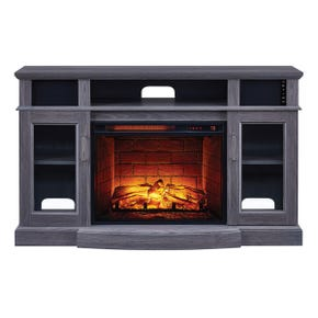 """Freemont Gray Ash 48"""" Fireplace Console with Sound Bar"""