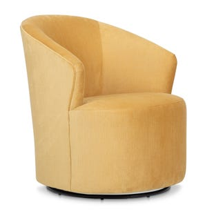 Ivy Swivel Chair in Gold Velvet