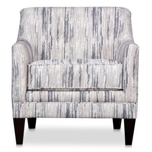 Riley Striped Beige Accent Chair