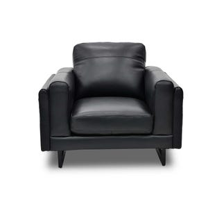 Top Grain Leather Drake Chair Black