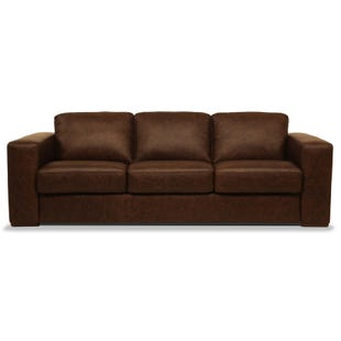 New York Chocolate All Leather Sofa