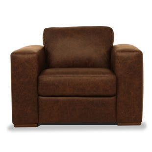 New York Chocolate All Leather Chair
