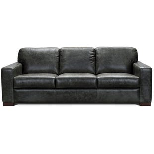 Smoky Gray All Leather Sofa
