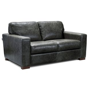 Smoky All Leather Loveseat