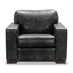 Smoky Gray All Leather Chair