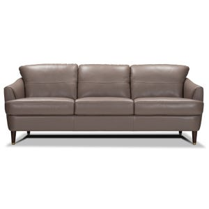 Tacoma Mushroom All Leather Sofa