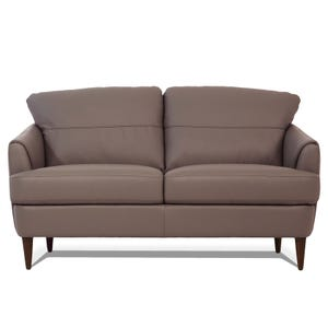 Tacoma Mushroom All Leather Loveseat