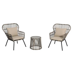 Daphne Modern Small Scale Outdoor Seating 3 Piece Set