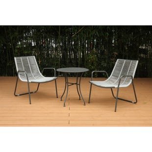 Maren Outdoor 3 Piece Modern Chat Set