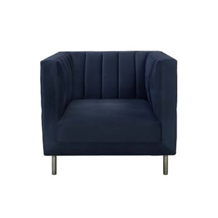 Montclaire Navy Channeled Velvet Chair