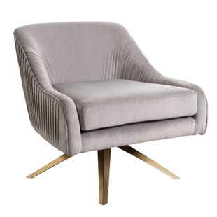 Giana Swivel Armchair Gray