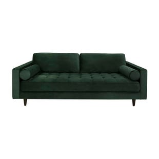 Valerie Emerald Tufted Velvet Sofa