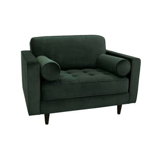 Valerie Emerald Tufted Velvet Chair