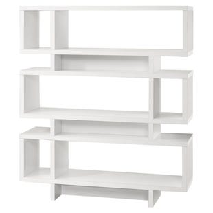 "Montreal White 55"" Modern Bookcase"