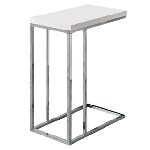 "Montreal White Chairside ""C"" Table"