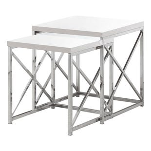 Montreal White 2 Piece Nesting Table Set