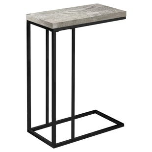 "Montreal Gray Reclaimed Chairside ""C"" Table"