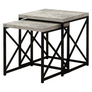 Montreal Gray Reclaimed 2 Piece Nesting Table Set