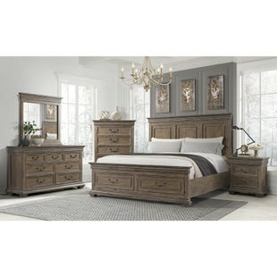 Sienna King Storage Bedroom Brown