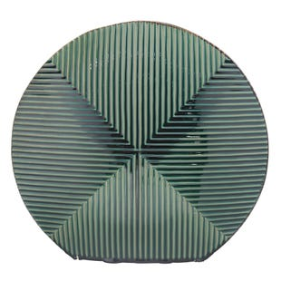 Round Green Stripe Vase