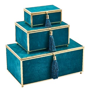 Blue Velvet Tassel Box Set S/M/L