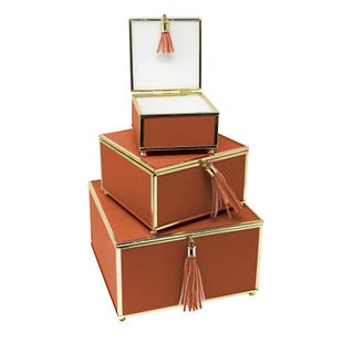 Orange 3 Piece Tassel Box Set S/M/L