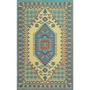 6x9 Reversible Turkish Outdoor Rug Bright Multi