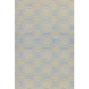 6x9 Reversible Outdoor Rug Yellow Grey Floral