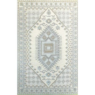 6x9 Reversible Turkish Outdoor Rug Neutral