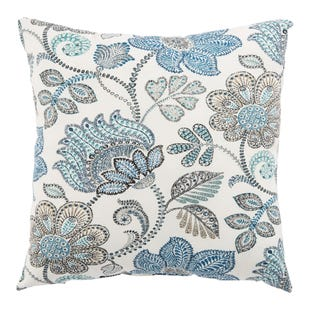 Veranda Moroccan Blue Outdoor Throw Pillow