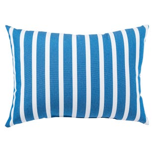 Terrace Deep Water Outdoor Throw Pillow