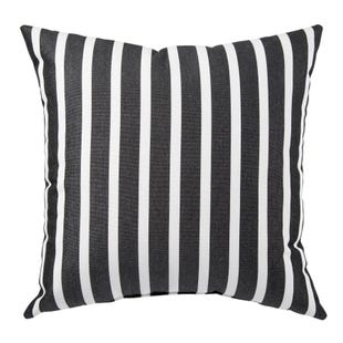 Terrace Black Outdoor Throw Pillow