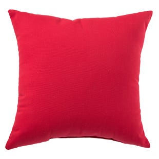 Terrace Haute Red Outdoor Throw Pillow