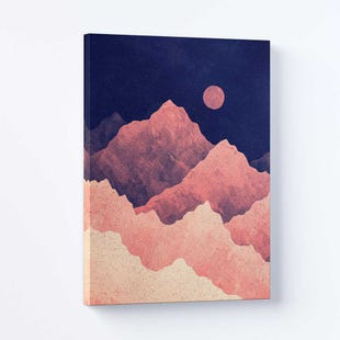 Red Night Moutain Canvas Art