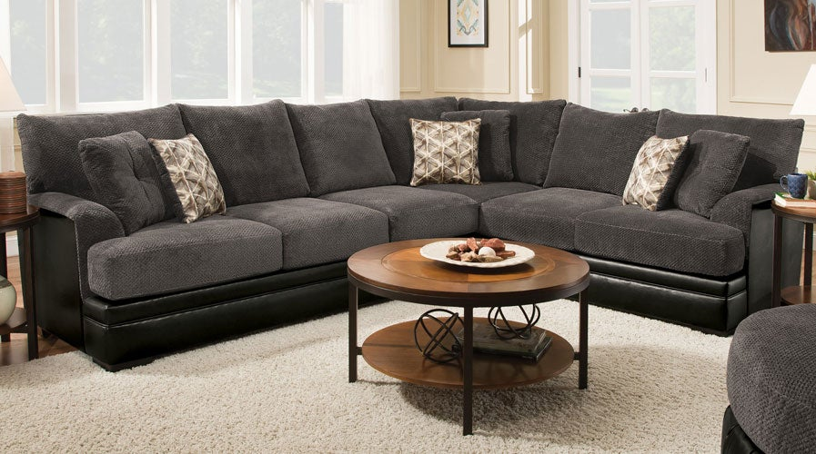 Albany Greenwood Smoke Sectional for $768 | Shop Now