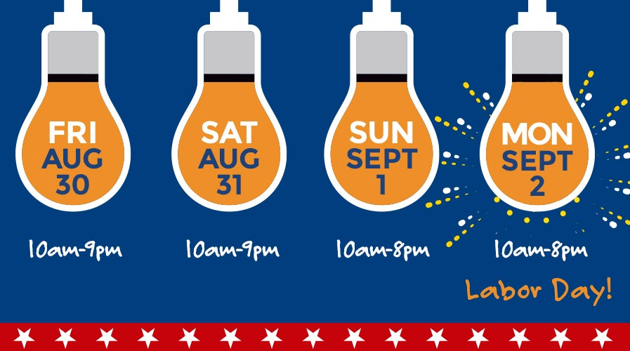 Labor Day Hours & Locations   Weekends Only