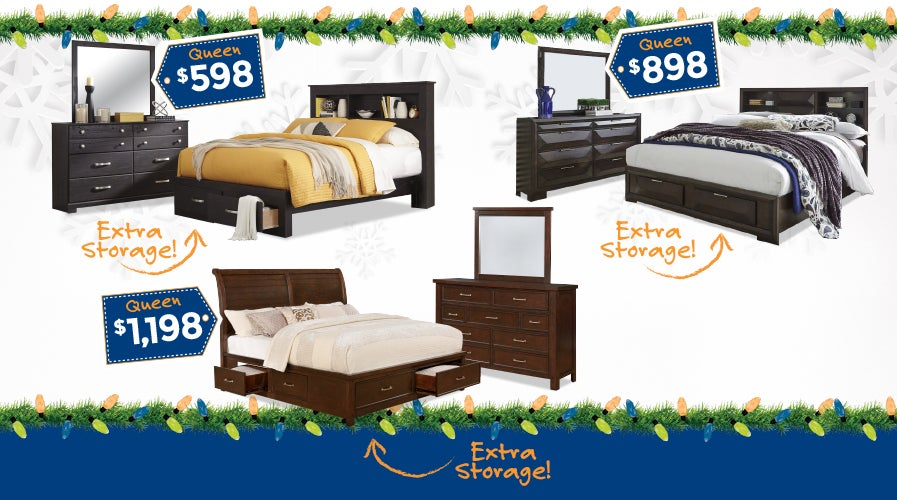 Bedroom Sets with Storage at Weekends Only | Shop Now