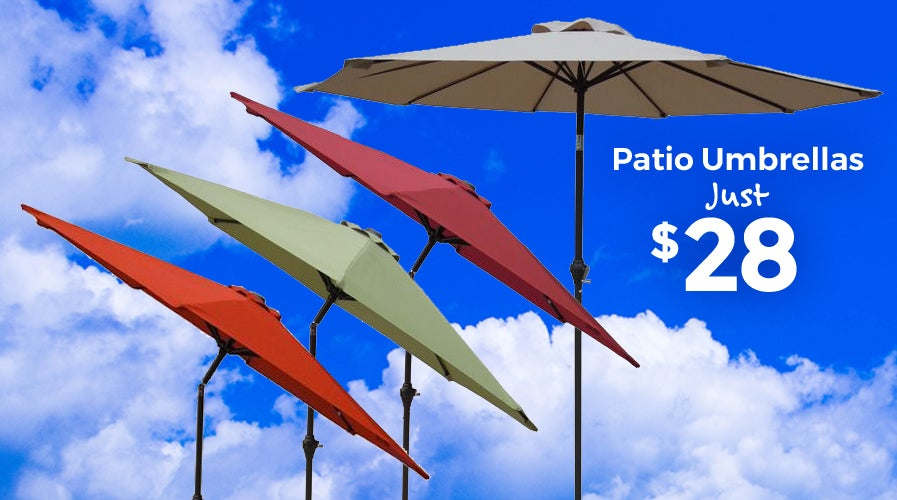 $28 Patio Umbrellas | Shop Now