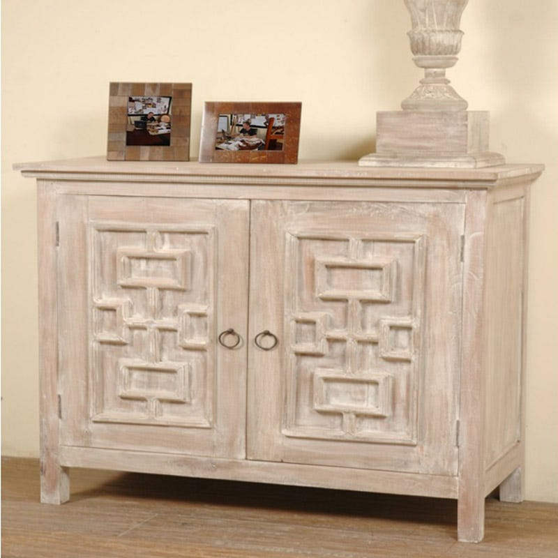 Donna Distressed Wood Accent Table