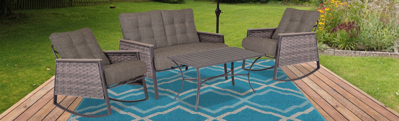 Outdoor Patio Idea with Rocking Chairs
