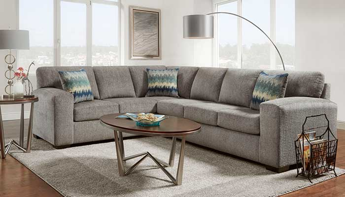 dark grey sectional with reclining seats