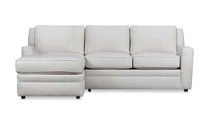 Left arm facing 3 seat white sectional