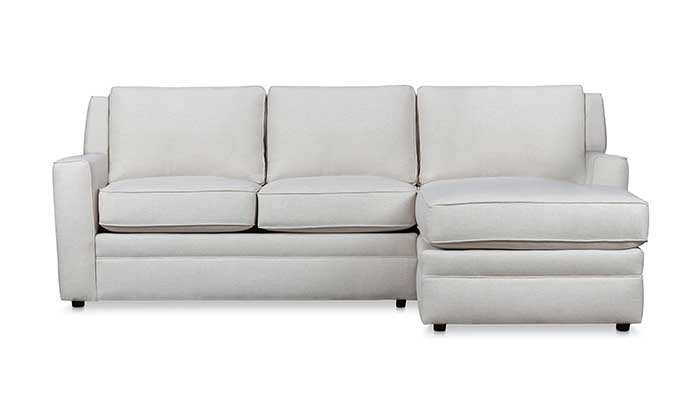 Right arm facing 3 seat white sectional