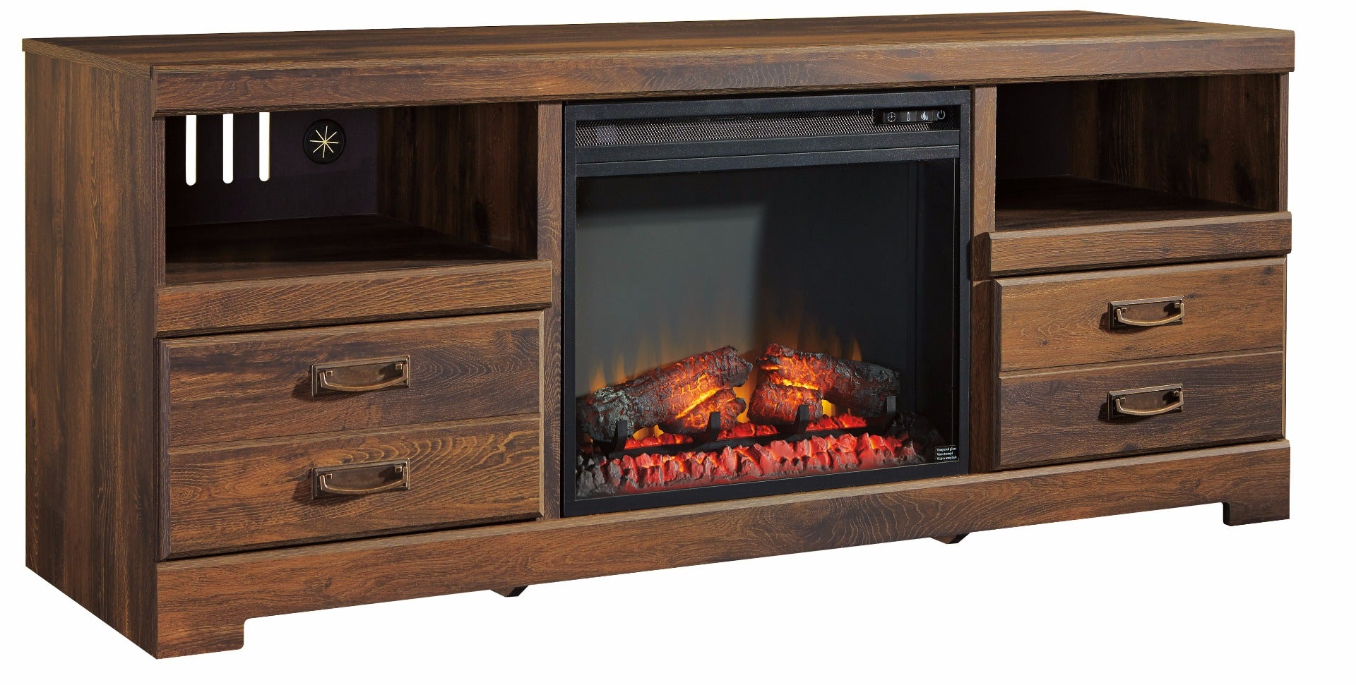 Quinden 64in Media Fireplace